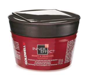 Питательная маска гладкость и увлажнение Goldwell Inner Effect ReSoft & Color Live Treatment