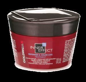 Укрепляющая маска для объема волос и защиты цвета Goldwell Inner Effect Repower & Color Live Treatment